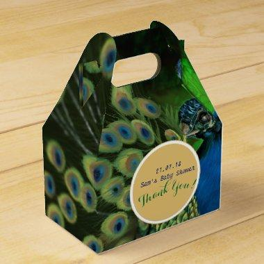 Elegant Personalized Gable Boxes Peacock Feathers