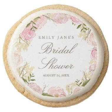Elegant Pink Rose Bridal Shower Cookies