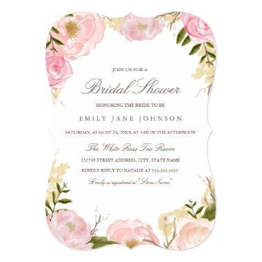 Elegant Pink Rose  Invite