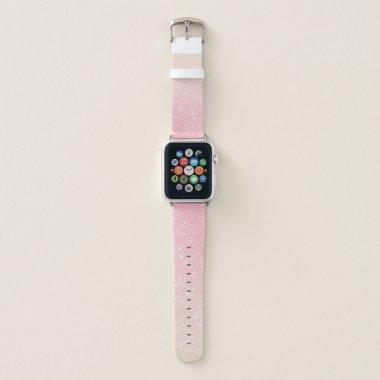 Elegant pretty girly gradient rose gold glitter apple watch band