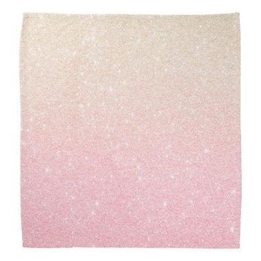 Elegant pretty girly gradient rose gold glitter bandana
