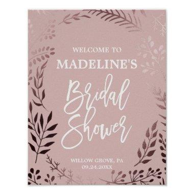 Elegant Rose Gold and Pink  Welcome Poster