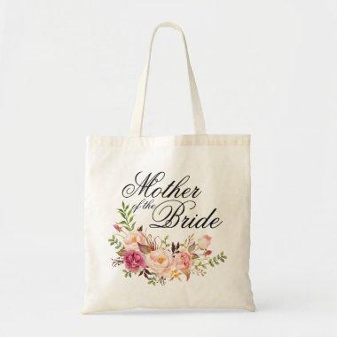 Elegant Rustic Floral Mother of the Bride Tote Bag