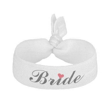 Elegant Script Bride Wedding Bachelorette Party Elastic Hair Tie