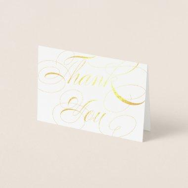 Elegant Script Gold Foil Wedding Thank You Foil