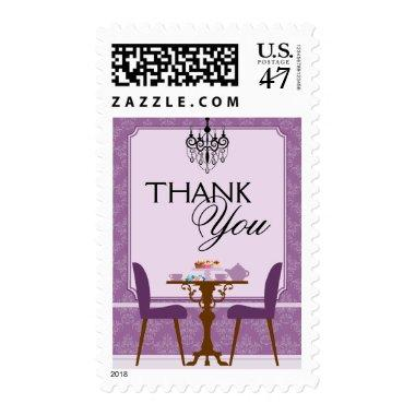 Elegant Tea Party  Thank You Postage