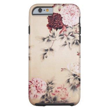 elegant vintage beige floral iPhone 6 case
