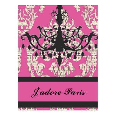 elegant vintage paris fashion girly postInvitations