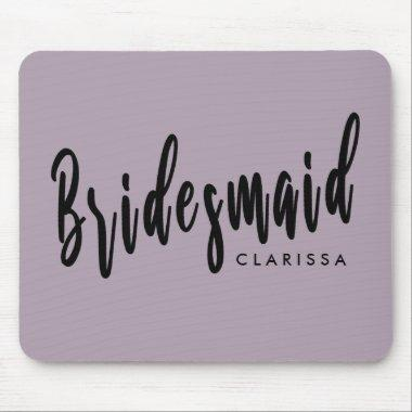 Elegant violet & black bridesmaid mouse pad