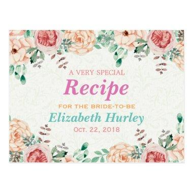 Elegant Watercolor Floral  Recipe Post