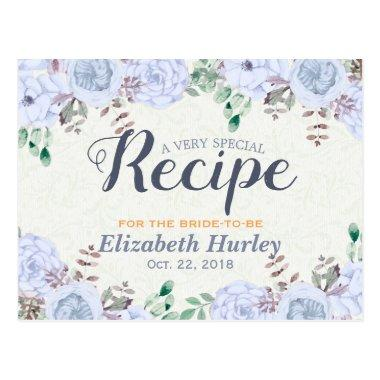 Elegant Watercolor Floral  Recipe Post