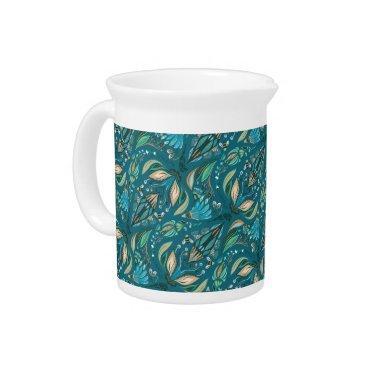 Elegant wedding floral rustic beautiful pattern drink pitcher