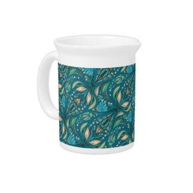 Elegant wedding floral rustic beautiful pattern pitcher