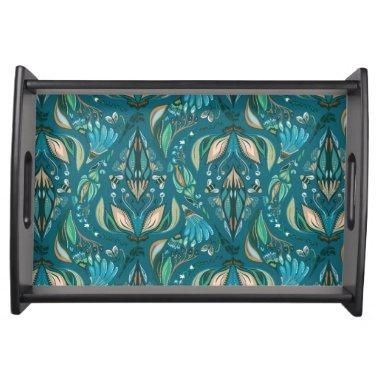 Elegant wedding floral rustic beautiful pattern serving tray