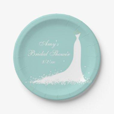 Elegant Wedding Gown, , Custom Paper Plate