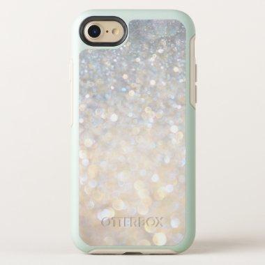 Elegant White Rose Gold Glitter Gray Modern Trendy OtterBox Symmetry iPhone 8/7 Case