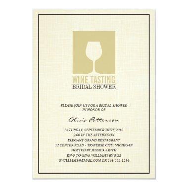 Elegant Wine Tasting Bridal Shower Invitations
