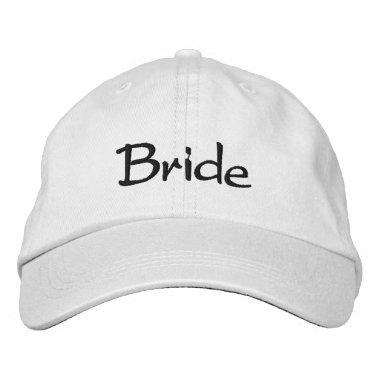 Embroidered Bride Cap