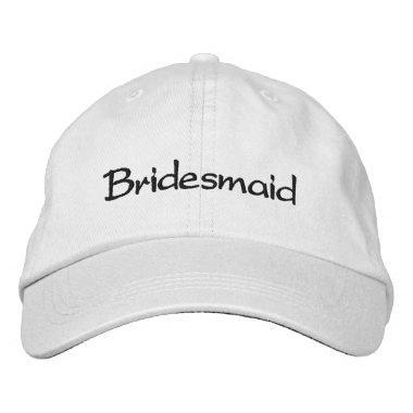 EMBROIDERED BRIDESMAID WEDDING CAP