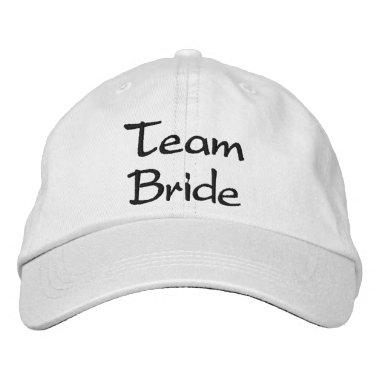 Embroidered Team Bride Wedding Cap