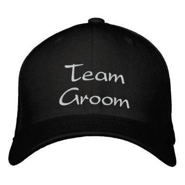 Embroidered Team Groom Wedding Cap