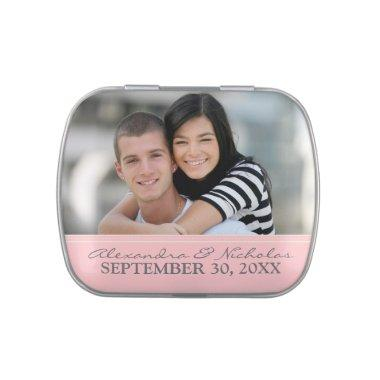 Engagement Photo Wedding Favor Tins (pink) Candy Tin