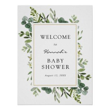 Eucalyptus Baby Shower Welcome Sign
