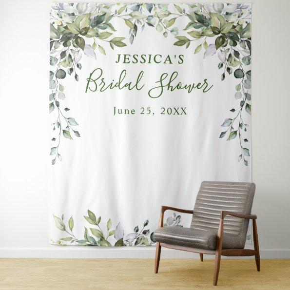 Eucalyptus Bridal Shower Chic Photo Booth Backdrop