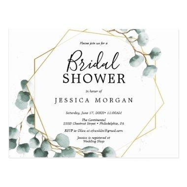 Eucalyptus Greenery Bridal Shower Invitation PostInvitations