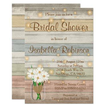 Evening Firefly Bridal Shower Design Invitations