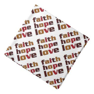 Faith Hope Love Browns Bandana