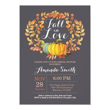 Fall Bridal Shower Invitation Invitations Gray