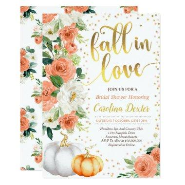 Fall Bridal Shower Invitations Fall In Love Shower