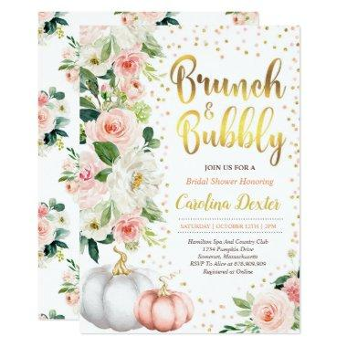Fall Brunch And Bubbly Bridal Shower Invitations
