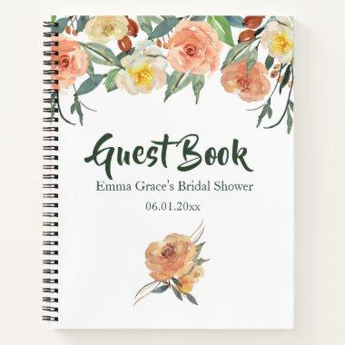 Fall Floral Bridal Shower Guest Book