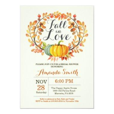 Fall in Love Bridal Shower Invitation Invitations