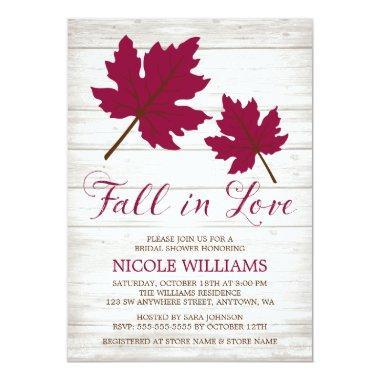 Fall in Love Burgundy Leaves