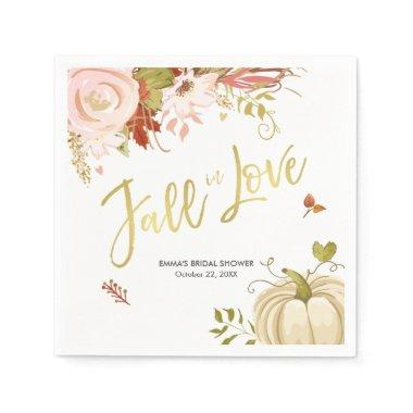 Fall in Love Napkins Bridal Fall Baby shower