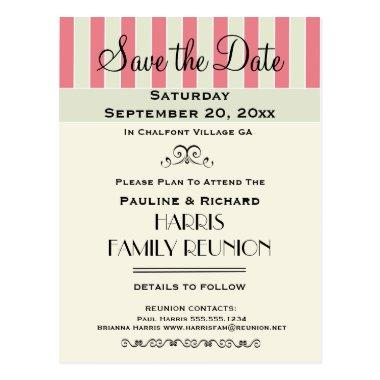 Family Reunion or Party Cream Rose Save the Date Post