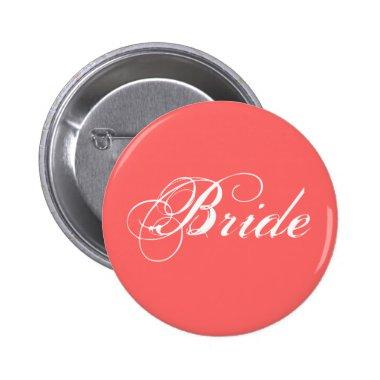 Fancy Bride On Coral Button