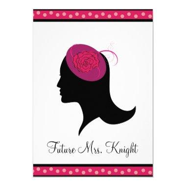 Fascinator Hat Tea Bridal Shower Invitations
