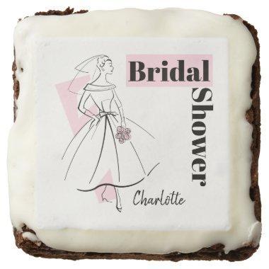 Fashion Bride Pink  brownie square