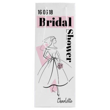Fashion Bride Pink  wine Wine Gift Bag