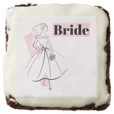 Fashion Bride Pink Bride brownie square