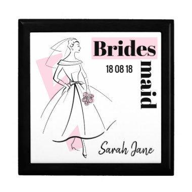 Fashion Bride Pink Bridesmaid gift box