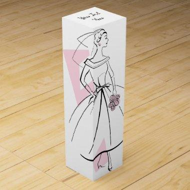 Fashion Bride Pink Group Text gift box wine