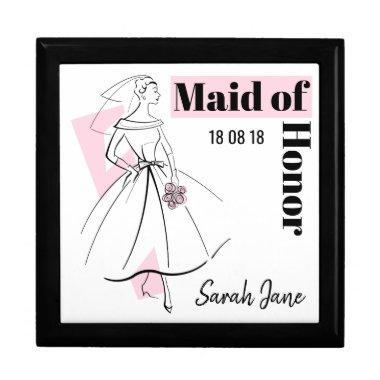 Fashion Bride Pink Maid of Honor gift box