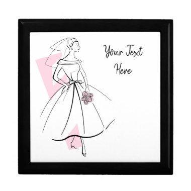 Fashion Bride Pink Text gift box