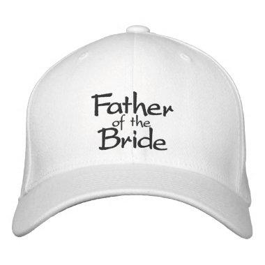 Father of the Bride Stylish Embroidered Baseball Hat