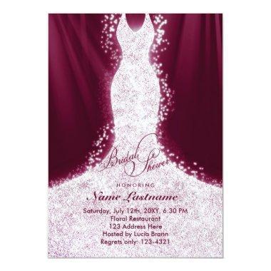 Faux Glitter Dress Burgundy  Invite